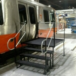 Joanne Bradley and the Amramp Atlanta team installed a wheelchair ramp at a tradeshow in Atlanta so everyone was able to access the new train cars.