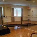 The Amramp Philadelphia team installed this wheelchair ramp rental to make the stage wheelchair accessible for an event at the Downingtown Country Club in Chester County, PA. Amramp is now the -go to company- for all of their temporary ramping needs.