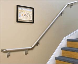 Hand rail up stairs