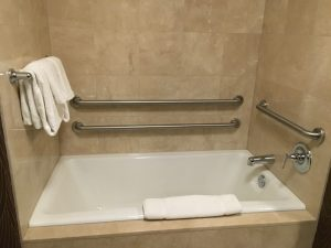 accessible tub with grab bar