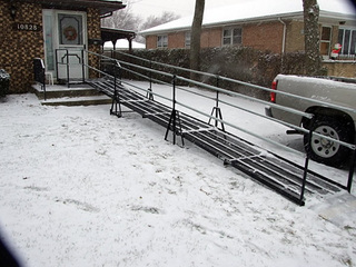 All weather wheelchair ramp in Madison, WI