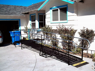 Amramp provided wheelchair access for an elderly couple in Arlington, TX.