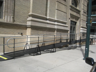 The Denver Center for the Performing Arts needed a ramp in a hurry when a construction project made the Theatre and Arts complex inaccessible just days before the theater opening. Amramp designed and installed two ramps giving theater-goers full access.