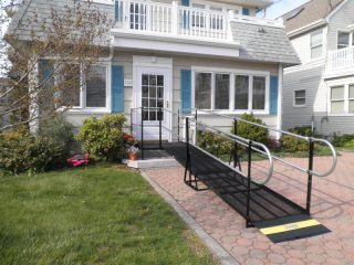 Residential wheelchair ramp in Hailey, Idaho
