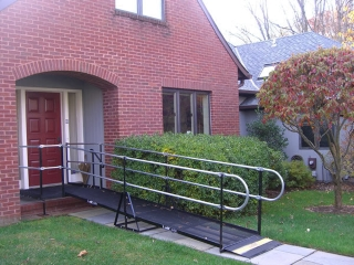 Residential wheelchair ramp installation, Princeton, NJ