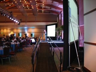 Amramp is great for speaking engagements and other special events.