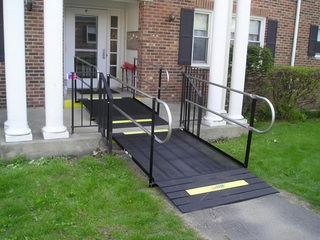 For commercial use the Northampton Housing Authority is one step closer to accessibility and now ADA-compliant with an Amramp ramp.