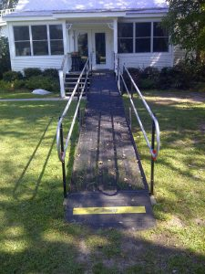 This New Roads, LA, home is fully accessible, thanks to an Amramp modular wheelchair ramp.