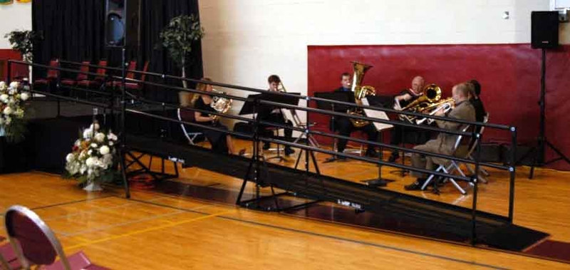 Texas A&M used an Amramp steel wheelchair ramp at their most recent graduation ceremony in the school's gymnasium.