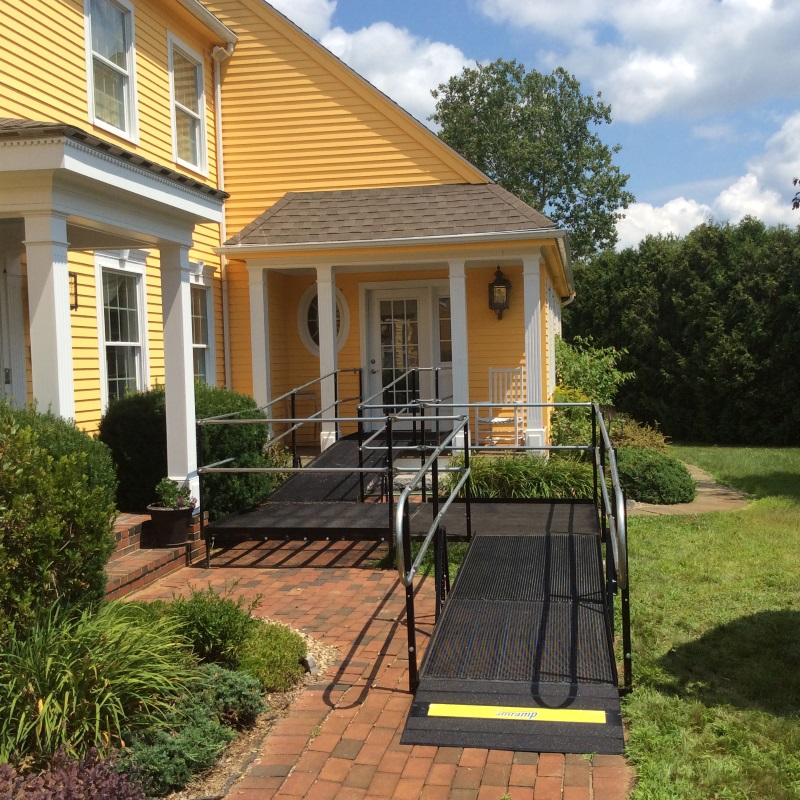 The Amramp Boston Team Installed This Wheelchair Ramp To Allow Wheelchair  Access For This Lovely Home