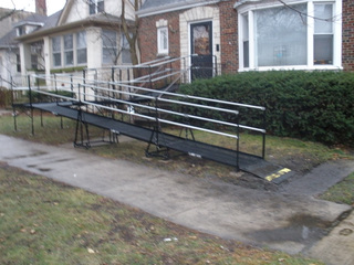 Residential ramp in Rockford, IL