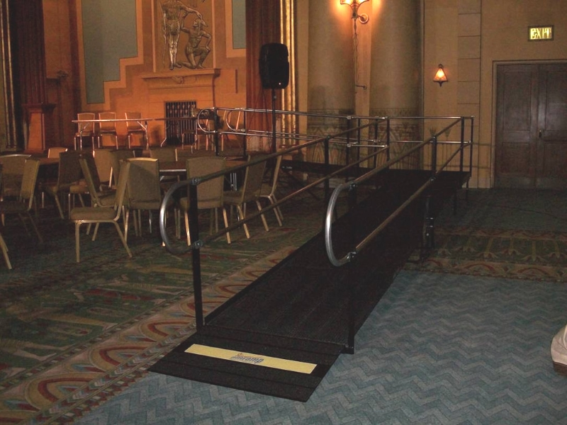 A wheelchair ramp rental at Atlanta's historic Fox Theater makes the stage in the opulent Egyptian Ballroom fully accessible.