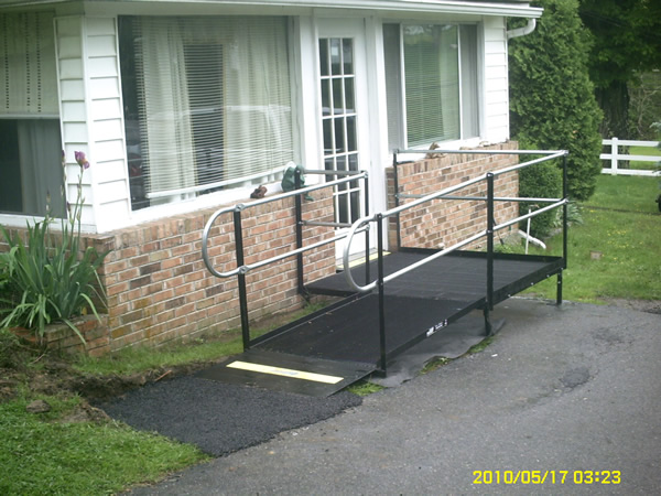 An Amramp residential ramp installation in Crab Orchard, WV.