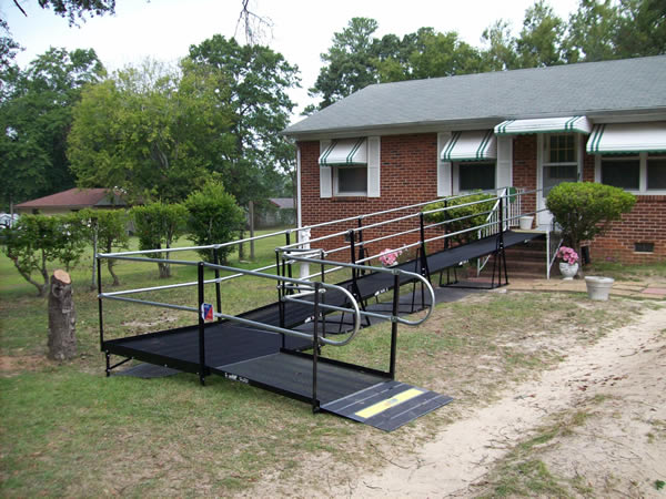 This is the first ramp installation we did for the Veterans Administration for a D-Day veteran in Augusta, Georgia