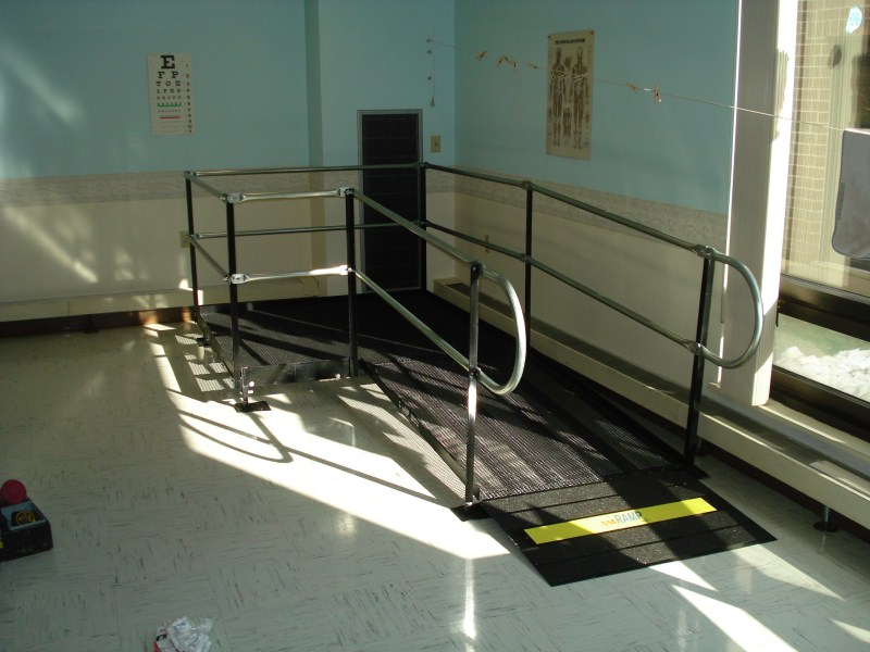 Amramp ramps are often used in physical therapy and rehabilitation centers.