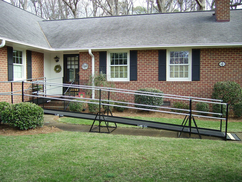Amramp Hampton Roads installed a wheelchair ramp at a Homes for Our Troops home, constructed for a wounded Iraq veteran.