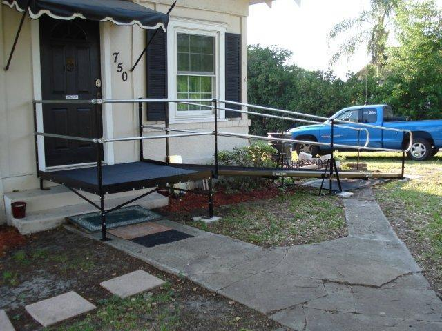 Amramp's modular ramps, such as this Lake Alfred home, can be configured to suit nearly any situation.