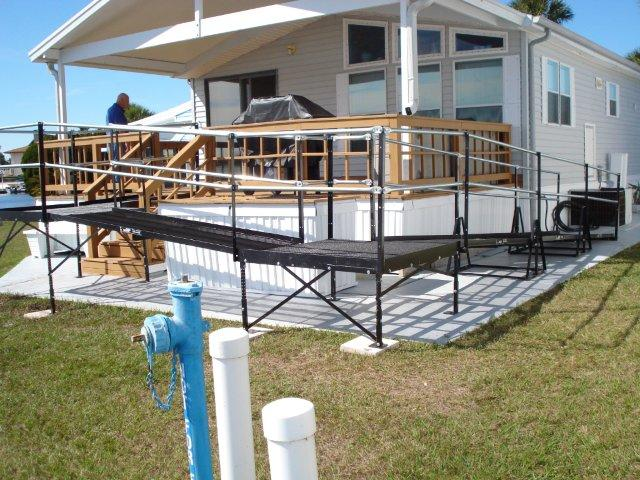 This wheelchair ramp keeps this Clermont home accessible.