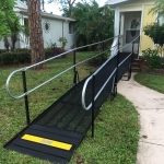 The Amramp South Florida team installed this wheelchair ramp to provide access to the front entrance of this Fort Myers, Florida home.
