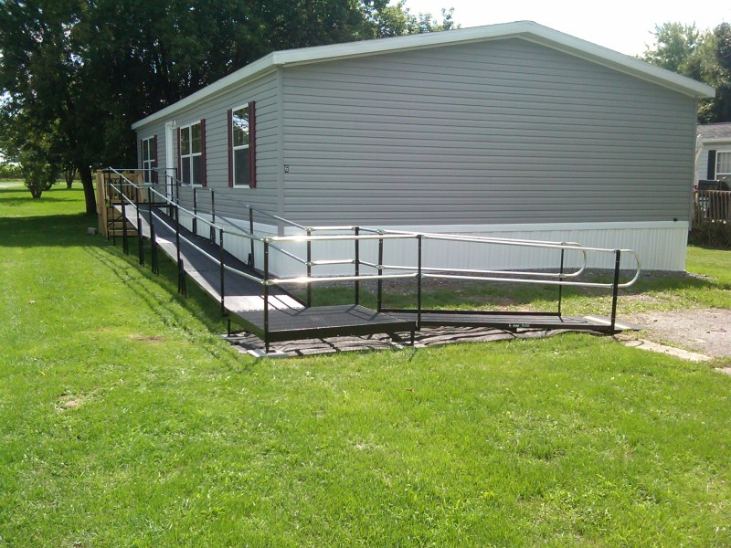 Residential ramp installed at a home in Caledonia, N.Y.