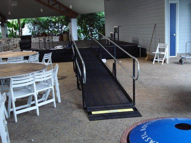 Amramp rents ramps for special events, like this one at Sea World in Tampa, Fla.