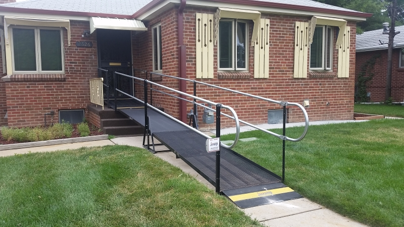 Amramp Denver Provide Temporary Access To The Front Entrance With The  Installation Of This Wheelchair Ramp