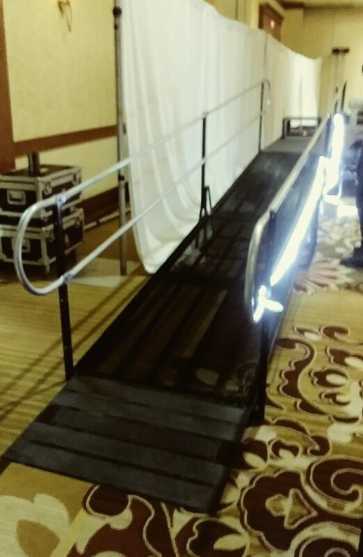 The Amramp Los Angeles team installed this wheelchair ramp for the Audio Visual Awards Ceremony at the Woodland Hills Marriott.