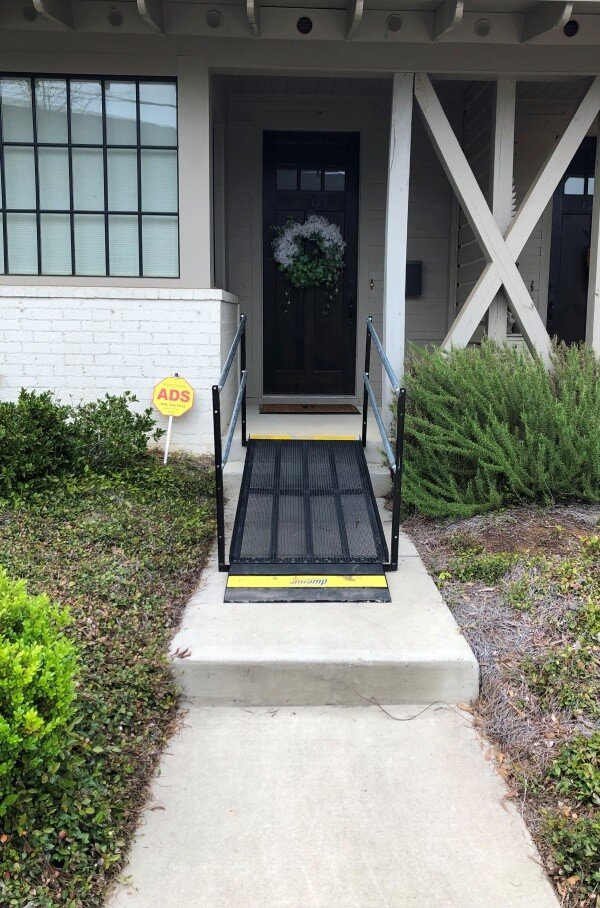 This small ramp was installed by John Cochran and the Amramp Birmingham team in Birmingham, AL.