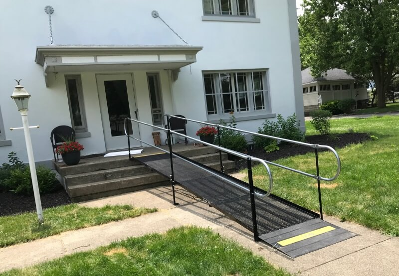This wheelchair ramp was installed at a home in Bluffton, IN by Amramp Huntington.