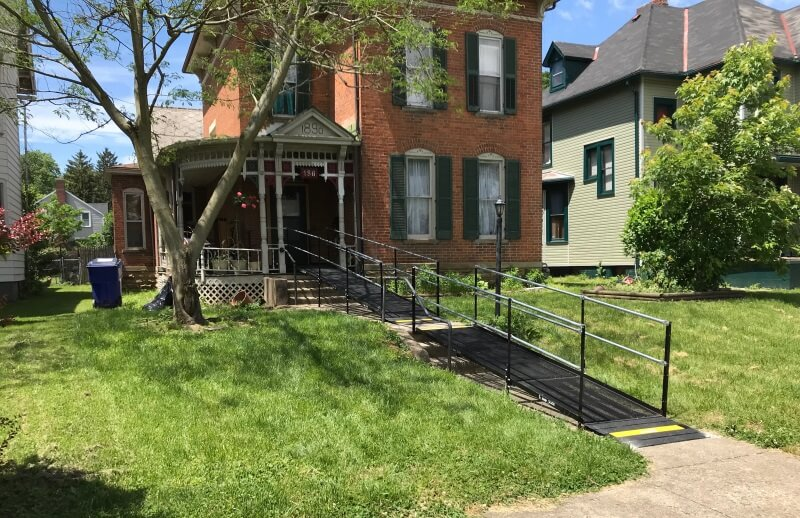 Jack Barlow and the Amramp Huntington, IN team installed this wheelchair ramp at this beautiful Chillicothe, OH home.