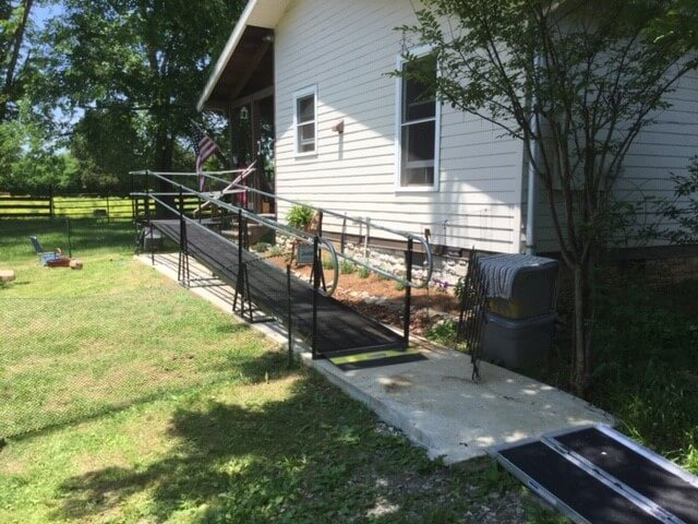Dave Taylor and the Amramp Eastern TN team installed this wheelchair ramp for a veteran coming home from a rehab facility in Christiana, TN.