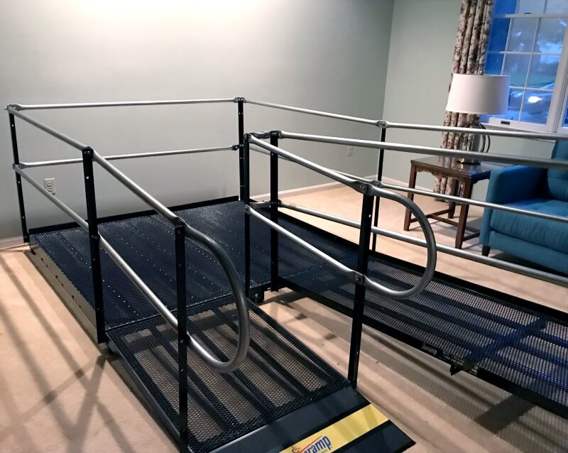 These ramps were installed by the Amramp Baltimore team at a patient's home in Columbia, MD.