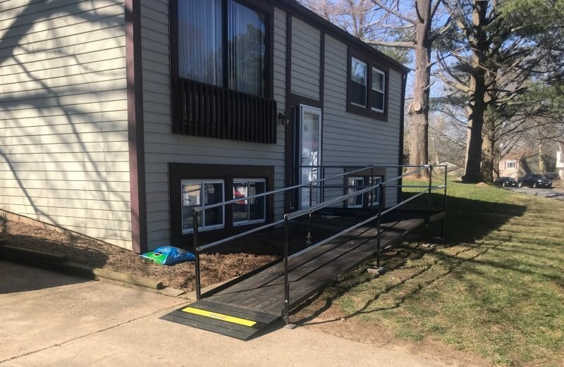 This Columbia MD senior has a much easier time getting in and out of her home. She and her family feel really happy that she now has the added security of no steps and handrails all through the Amramp system provided by Greg Lazzaroni. Greg covers all of Maryland, Washington DC, and Northern Virginia.