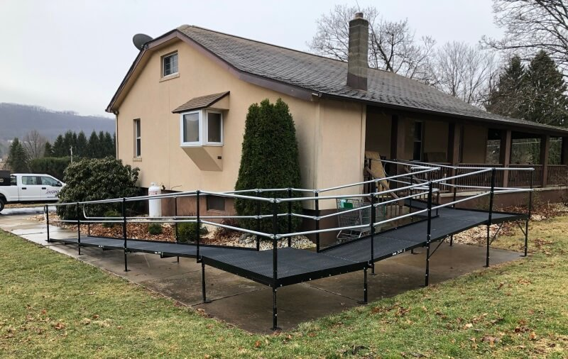 Dave Hoglund and the Amramp NE-PA team installed this wheelchair ramp in Drum, PA.