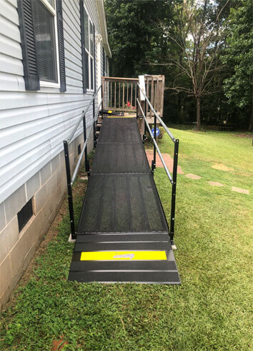 Our Birmingham team recently traveled to Auburn, AL to install this ramp for its resident.