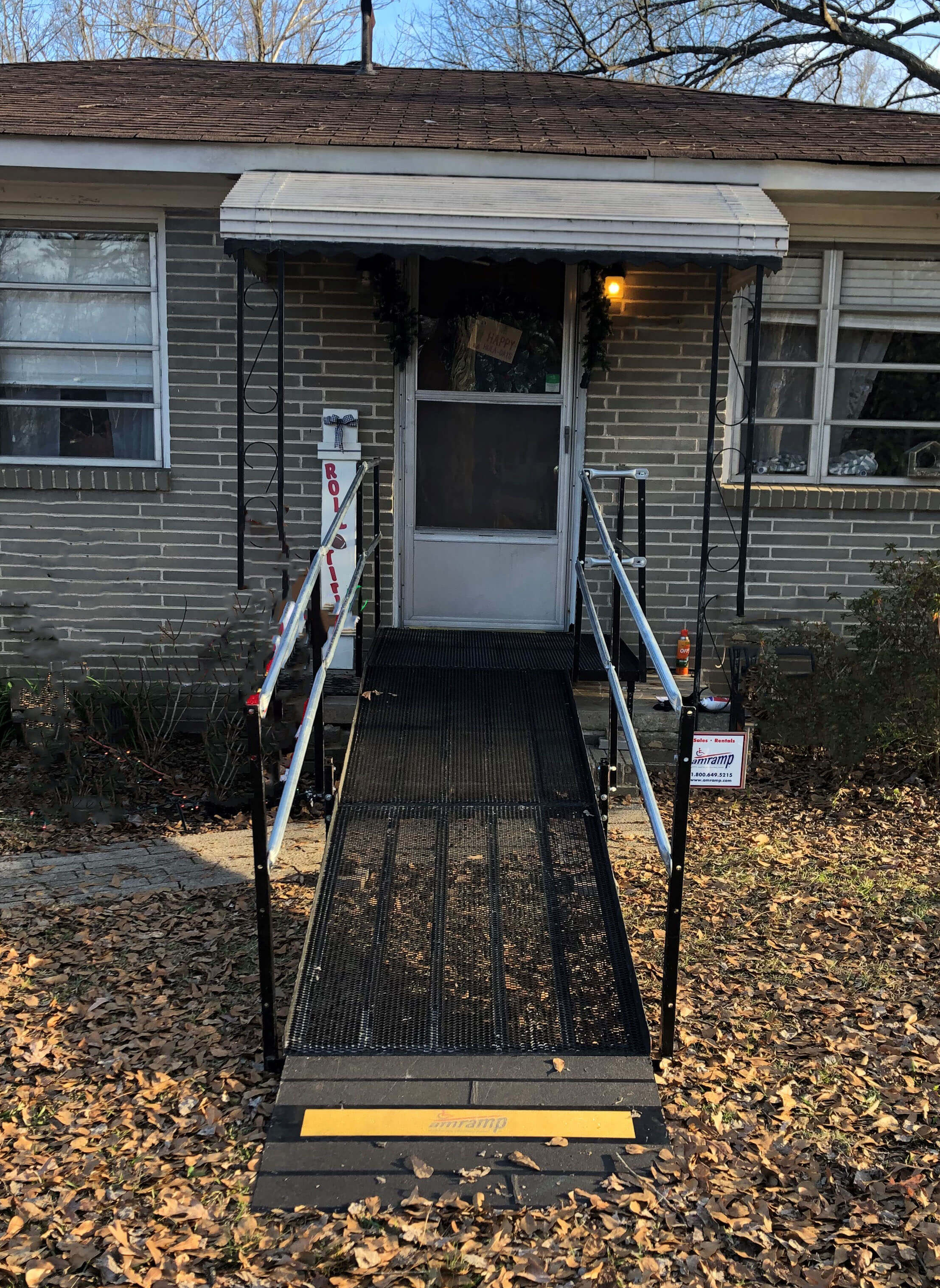 A ramp installed over stairs recently by Amramp of Birmingham AL