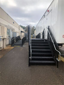 Amramp of Birmingham, AL recently installed this pro ramp. Our pro commercial ramps are perfect for renting for an event, or as permanent solution for your commercial needs.