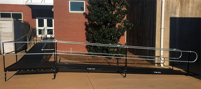 Amramp of Birmingham, AL traveled to install this commercial ramp for Auburn University, in Auburn, AL