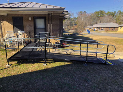 The Birmingham, AL team installed this ramp in Boaz, AL