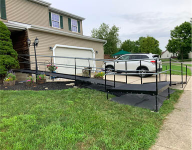 Amramp of Huntington, IN installed this ramp for a customer located in Columbus, OH