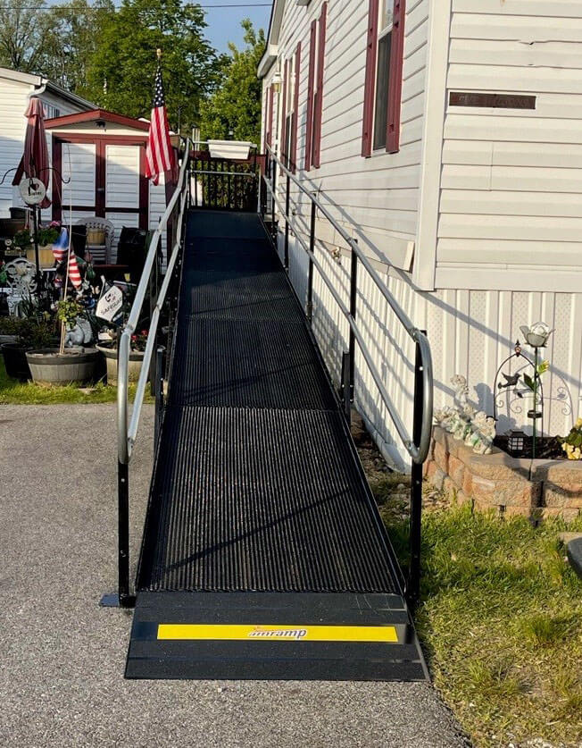A ramp that our DC/Maryland team installed at a customers home in Elkridge, MD