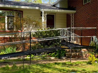 Our DC/Maryland team traveled to Falls Church, VA in order to install this entrance ramp over a set of pre-existing stairs at a customers residence