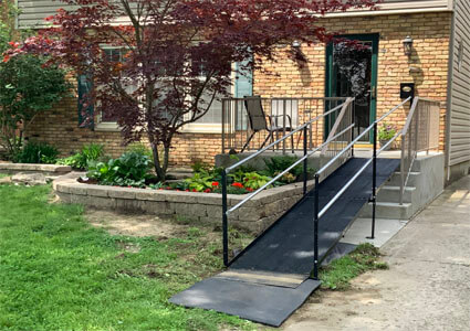 Amramp of Huntington, IN installed this ramp at a customers home in Fort Wayne, IN