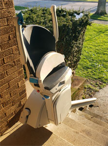 Our Chicago, IL team installed this Handicare 1000 stairlift for a customer also located in Chicago, IL. Amramp of Chicago is committed to finding the ideal accessibility solutions for you and your home.