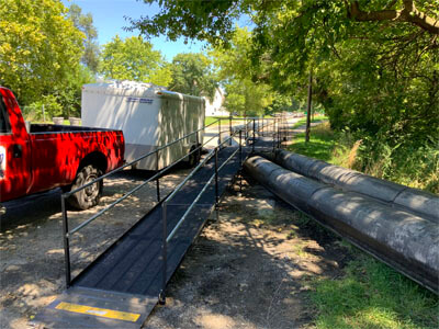 This temporary construction ramp located in Indianapolis, IN was installed by our Huntington, IN team
