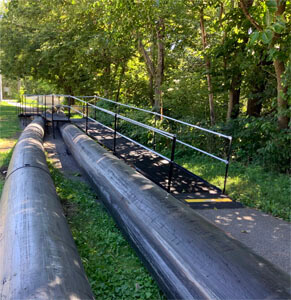 This temporary construction ramp located in Indianapolis, IN was installed by our Huntington, IN team.