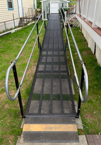 After being injured in the workplace, this customer located in Lorton, VA now has a wheelchair ramp thanks to the Amramp of DC/Maryland/DC