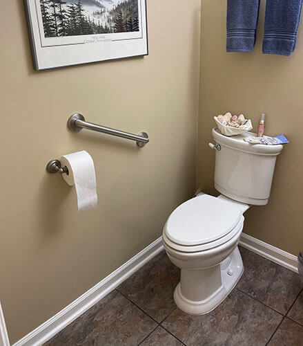 Amramp of Eastern Tennessee installed this bathroom grab bar in Knoxville, TN.