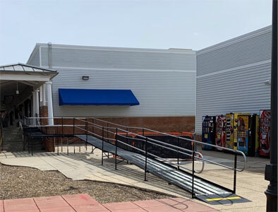 Amramp of DC/Maryland recently installed this wheelchair ramp for the new Leesburg premium outlets in VA
