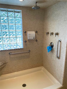 Amramp of Eastern Tennessee installed this set of grab bars in a customers home located in Marion, VA
